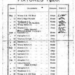 Oxford Downs CC - 1928 Fixtures