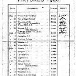 Oxford Downs CC - 1928 Fixtures
