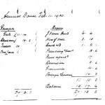 Oxford Downs CC - 1930 Dance Balance Sheet