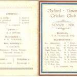 Oxford Downs CC - 1930 Officers