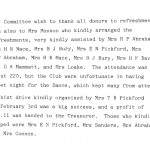 Oxford Downs CC - 1931 Dance Report