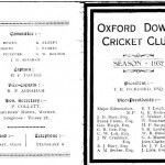 Oxford Downs CC - 1932 Officers