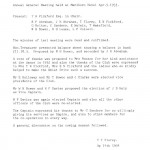 Oxford Downs CC - 1933 AGM Minutes