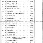Oxford Downs CC - 1933 Fixtures