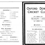 Oxford Downs CC - 1933 Officers