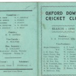Oxford Downs CC - 1935 Officers