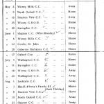 Oxford Downs CC - 1936 Fixtures