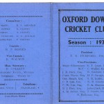 Oxford Downs CC - 1936 Officers