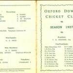 Oxford Downs CC - 1937 Officers