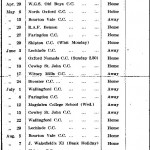 Oxford Downs CC - 1939 Fixtures
