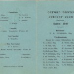 Oxford Downs CC - 1939 Officers